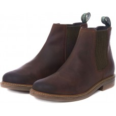 Barbour Farsley Chelsea Boot Style Choco Leather Mens Shoes