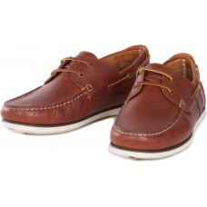 Barbour Capstan Hand Sewn Cognac Leather Mens Moccasin Style Boat Shoe
