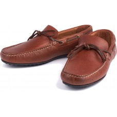 Barbour Eldon Boat Shoe Style Dark Brown Leather Mens Driving Shoes