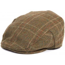 Barbour Hat Crieff Mens Olive/Mixed Herringbone Mens Flat Cap