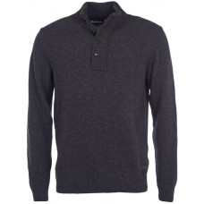 Barbour Jumper Patch Half Zip Charcoal Mens Top