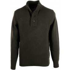 Barbour Jumper Patch Half Zip Seaweed Mens Top