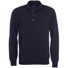 Barbour Jumper Patch Half Zip Navy Mens Top