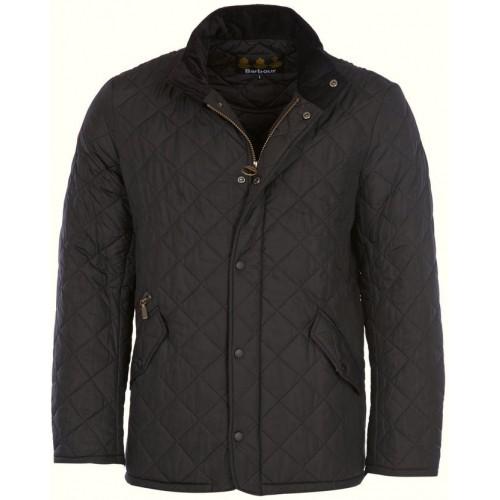 Barbour Jacket Chelsea Sportsquilt Mens Black