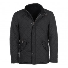 Barbour Jacket Quilted Powell Black Mens