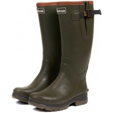 Barbour Tempest Mens Olive Green Rubber Wellington Boots