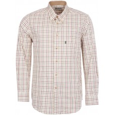 Barbour Shirt Tattersal Relaxed Fit Mens Red/Olive Shirt