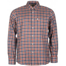 Barbour Shirt Dulton Burnt Orange Mens