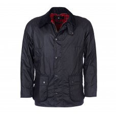 Barbour Jacket Waxed Ashby Navy Mens
