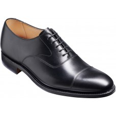 Barker Malvern Oxford Toe Cap Black Calf Leather Mens Shoes (8 G Wide Fit)