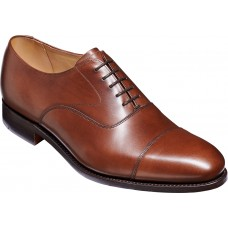 Barker Malvern Oxford Toe Cap Dark Walnut Calf Leather Mens Shoes (Standard Fit)