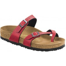 Birkenstock Mayari Ladies Bordeaux Red Birko Flor Sandals