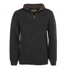 Barbour Jumper New Tyne Olive Half Zip