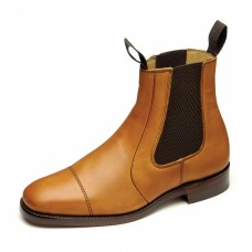 Loake Chelsea Boot Style Newbury Tan Brown Mens Leather Shoes