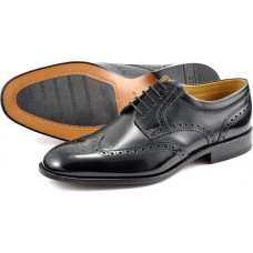 Loake Derby Brogue Pangbourne  Black Shoes (06)