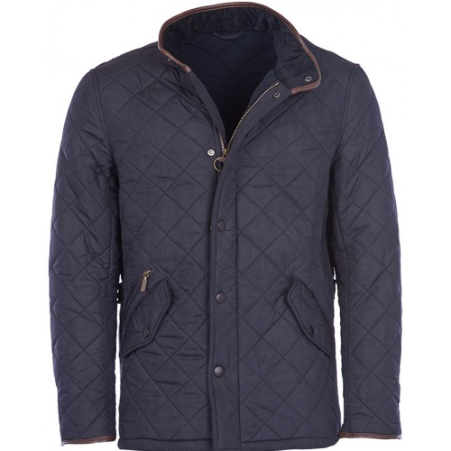 Barbour Jacket Powell Quilted Navy Mens