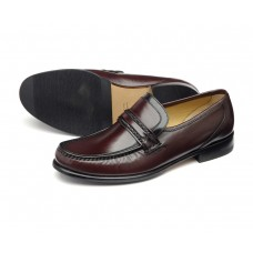 Loake Moccasin Style Rome Burgundy Mens Shoes