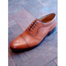 Barker Oxford Brogue Toe Cap Style Mens Shoes (07)