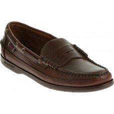 Sebago Sloop Brown Leather Moccasin Boat Shoe