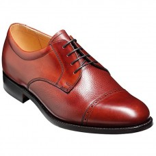 Barker Staines Rosewood Calf Grain Oxford Shoes