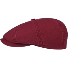Stetson Hatteras Bordeux Red Mens Flat Cap Style Hat