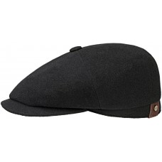 Stetson Hatteras Black Mens Flat Cap Style Hat