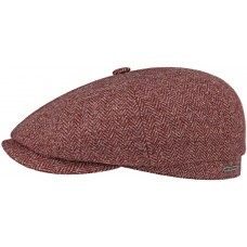 Stetson Hatteras Bordeux Wool Mens Flat Cap Hat