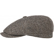 Stetson Hatteras Dark Brown Wool Mens Flat Cap Hat