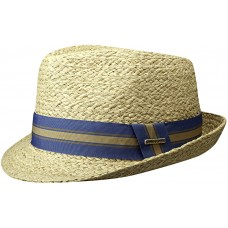 Stetson Mandalo Raffia Mens Trilby Straw Panama Hat Nature