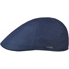 Stetson Texas Just Linen Blue Mens Flat Cap Style Hat