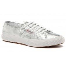 Superga Cotmetu Classic Lo Top Sneakers Grey/Silver Womens
