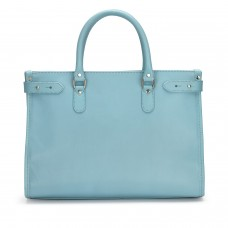 Tusting Kimbolton Honeydon Blue Leather Tote