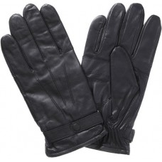 Barbour Gloves Burnished Leather Thinsulate Black