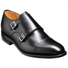 Barker Tunstall Monk Strap Style Cedar Black Mens Shoes (10)