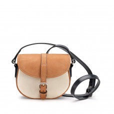 Tusting Cardington Tan Navy & Cream Bag Small