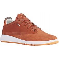 Geox U Aerantis A Mens Brick Suede Sneakers