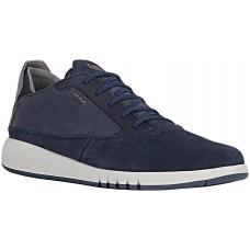 Geox U Aerantis A Mens Navy Suede Sneakers