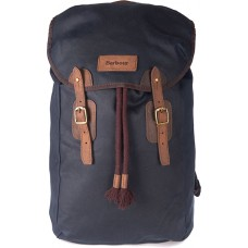 Barbour Bag Wax Leather Backpack Unisex Navy