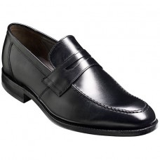 Barker Warner Black Mens Leather Slip On Shoes (10.5)
