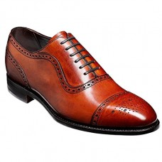 Barker Warrington Rosewood Calf Brogue Oxford Toe Cap Shoes