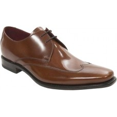 Loake Webster Derby Wingcap Style Brown Leather Mens Shoes (08½)