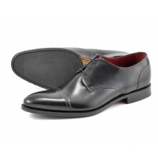 Loake Derby Toe Cap Style Abberline Black Mens Shoes (09½)