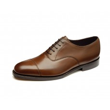 Loake Aldwych Plain Toe Cap Mahogany Oxford Shoes (11)