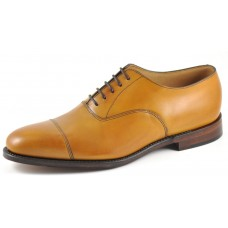Loake Aldwych Plain Toe Cap Tan Oxford Shoes (08)