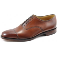 Loake Aldwych Plain Toe Cap Mahogany Oxford Shoes (07½)