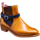Barker Alexandra Chelsea Boot Style Cedar Calf / Blue Strap Womens