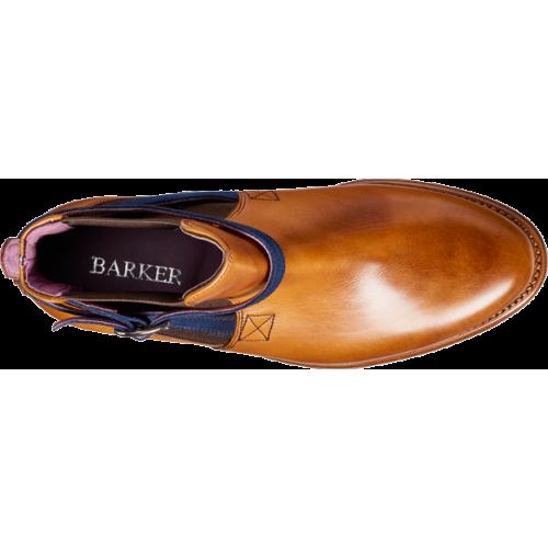 a47c1930dbdb4 Barker Alexandra Chelsea Boot Style Cedar Calf / Blue Strap Womens