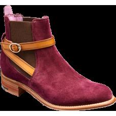 Barker Alexandra Chelsea Boot Style Purple Suede / Cedar Strap Womens Boots