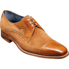 Barker Ashton Derby Toe Cap Mens Cedar Calf Camel Suede Leather Mens Shoes (11)