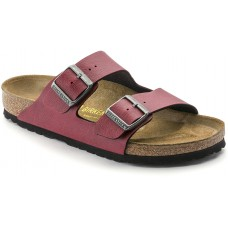 Birkenstock Arizona Pull Up Bordeaux Birko Flor Ladies Sandals